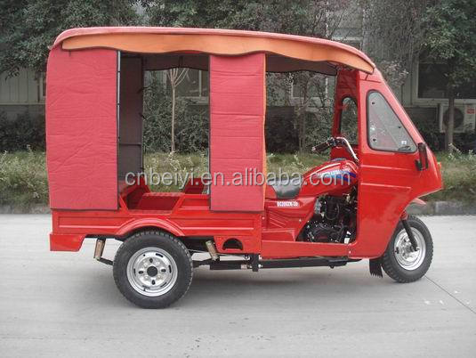 2016 Gasoline 250cc Closed Passenger Tricycle With Closed Carrier In Angola