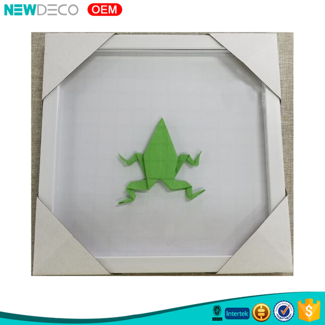 Creative idea frog design paper folding wholesale wood DIY box frame