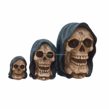 Halloween Resin Skull Models High Fidelity Human Man Skull Crafts