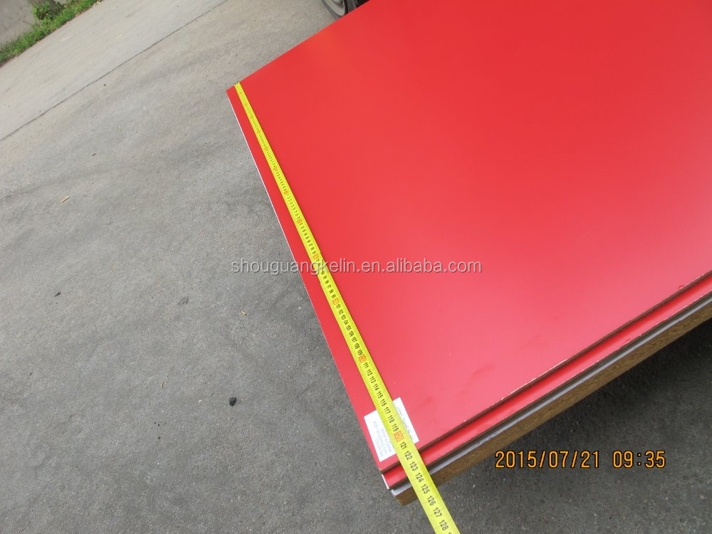 1220X2440X3.5MM RED melamine MDF/SOLID COLOR MDF BOARD