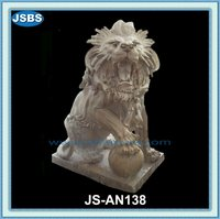 Carving Decorative Garden Small Stone Lion Sculpture For Sale