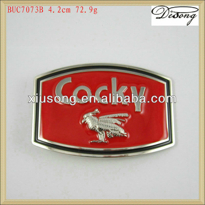 BUC7073 Cocky bird metal belt buckle