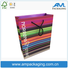 Custom Made Recycled Full Printing Colorful Paper Gift Bag for Shopping