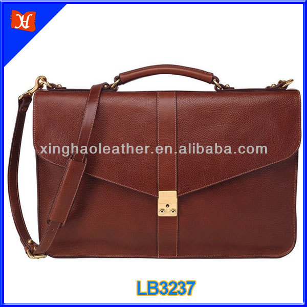 Wholesale Fashional Vintage fully leather briefcase for men