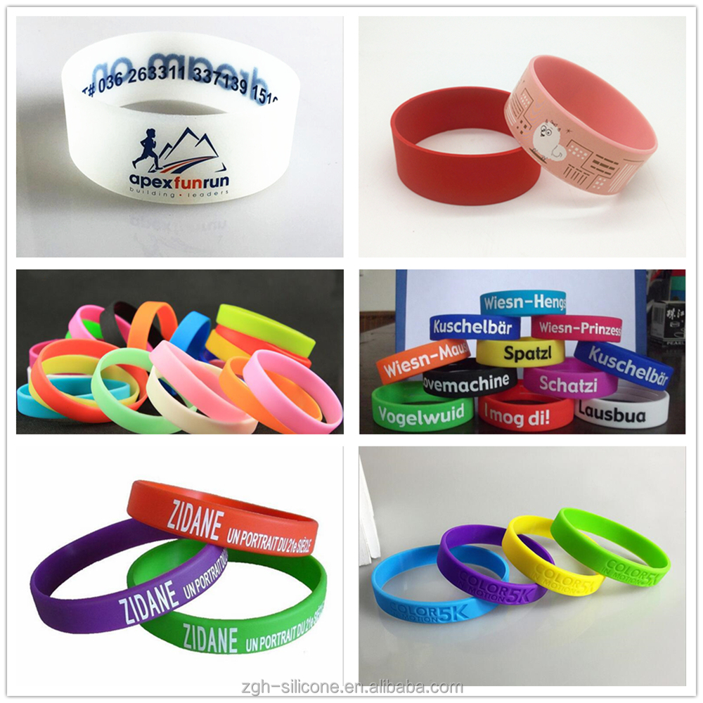 Customized Logo Print 100% Silicone Wrist Band Cheap sell silicon wrist band