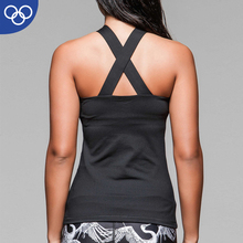 wholesale Ladies 95% cotton 5% spandex crop top women gym vest stringer tank top