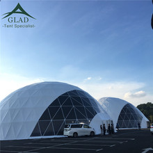 50m Transparent Big Soundproof Party Tent Geodesic Dome With Lights