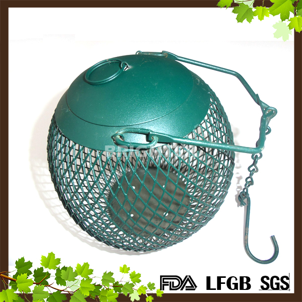 Metal Ball Shape Iron Wire Seed Feeder Bird Feeder