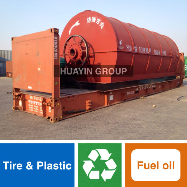 Huayin Brand Green Tech Recycling Furnace Oil From Tire/Plastic Pyrolysis Plant