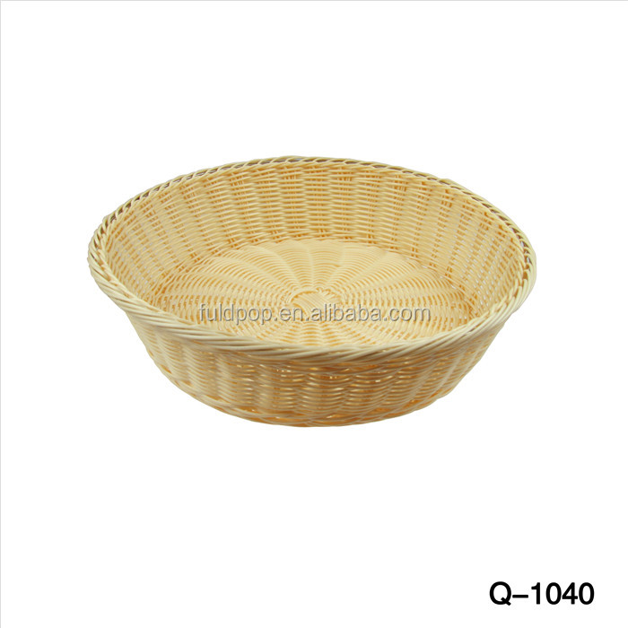 OEM factory Low moq cream-coloured fruit display basket