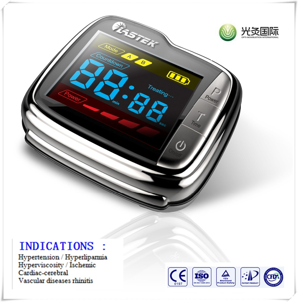 Against high blood pressure stroke 650nm laser watch for old people