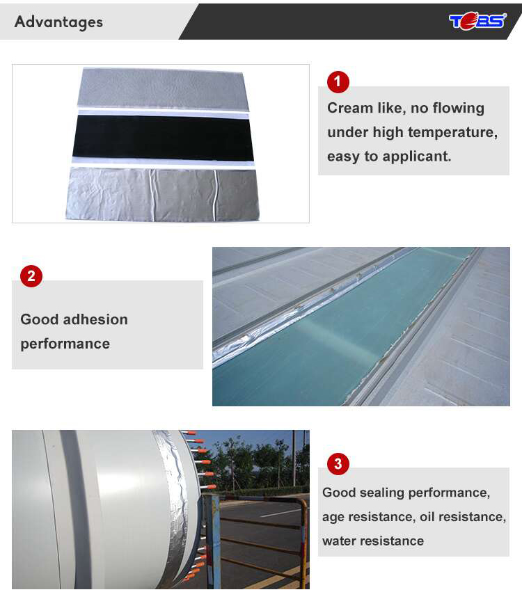 China supplier aluminum foil butyl waterproof rubber adhesive tape