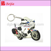 Custom rubber pvc motorcycle keychains/ Soft Rubber Keychains motorcycle / Silicone Keyring