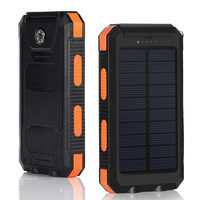 Battery solar charger mobile phone power bank wtih compass