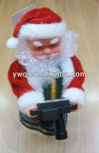 mini santa claus with a camera 2014 New christmas decoration
