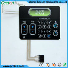 Button Embossed Digital Key Pad Membrane Switches With Transparent Window