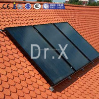 High efficiency flat panel solar thermal collector