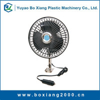 DC12V and 24V 6 inch oscillating half metal half plastic car fan full guard