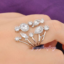 Fashion jewelry dubai crystal new model wedding ring