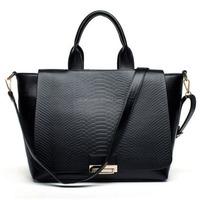 designer black PU leather all brand handbags