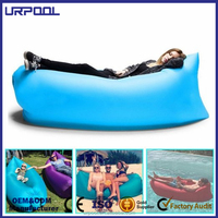 2016 New Product lazy lounger beach inflatable sleeping bag lazy air bed Lazy bag