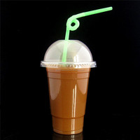 Hot Sale PP reusable plastic cups with dome lid Take Away Coffee plastic cup Clear Plastic Cup