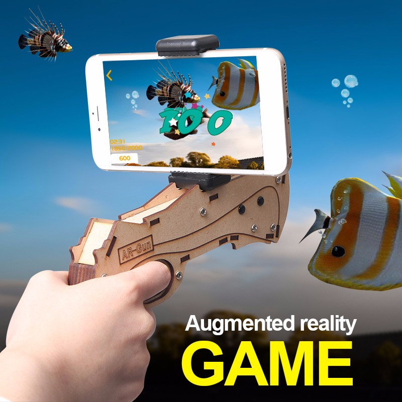 2017 amazon best seller mini Smart Bluetooth 3D AR VR gun shooting game controller for all smartphones
