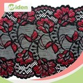 Spandex Nylon red flower nylon fabric price stretch alencon lace