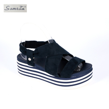 2018 Arrival PU Upper big size ladies hot sale new women sandals shoes
