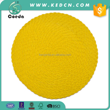 Eco-friendly Handmade Braided Solid Round Paper Placemat