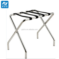 Hotels stainless steel folding Strong Baggage Carrier luggage rack