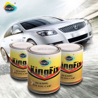 KINGFIX Brand excellent metallic effect matte white car paint for existing finishes