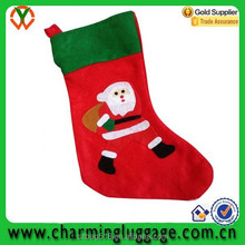 customized fancy christmas gift bag/christmas sock manufacturer wholesale 2015