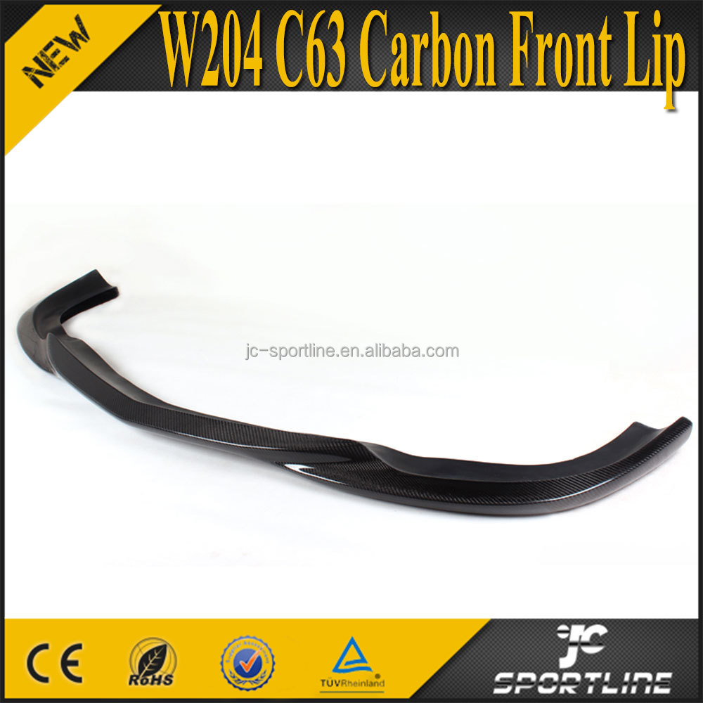 C-CLASS C63 Carbon Fiber Front Lip for Mercedes W204 AMG only 09-11