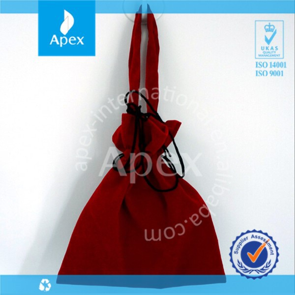 velvet drawstring bag for wine holder packaging