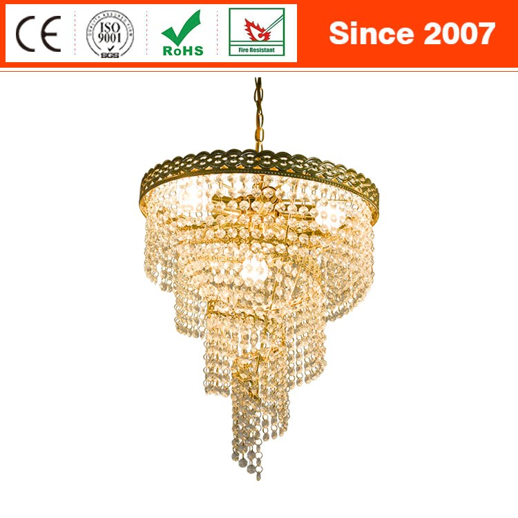 European luxury acrylic beads hotel lounge decoration chandelier lamp
