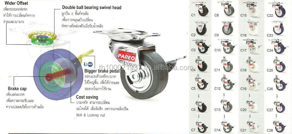 "Light Duty Caster ""COMPACT"