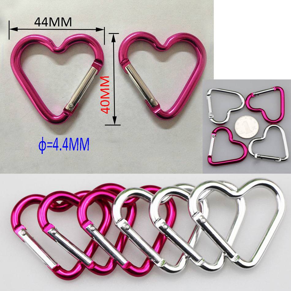 Wholesale Aluminum Metal keychain Heart Shape Carabiner