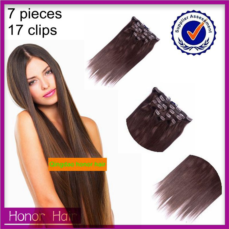 Factory Price no sheding no tangle cilp in hair 100% unprocessed wholesale virgin cambodian hair