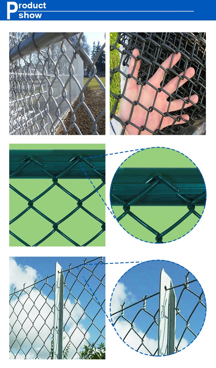hot sale hot dipped galvanized chain link fence/diamond wire mesh