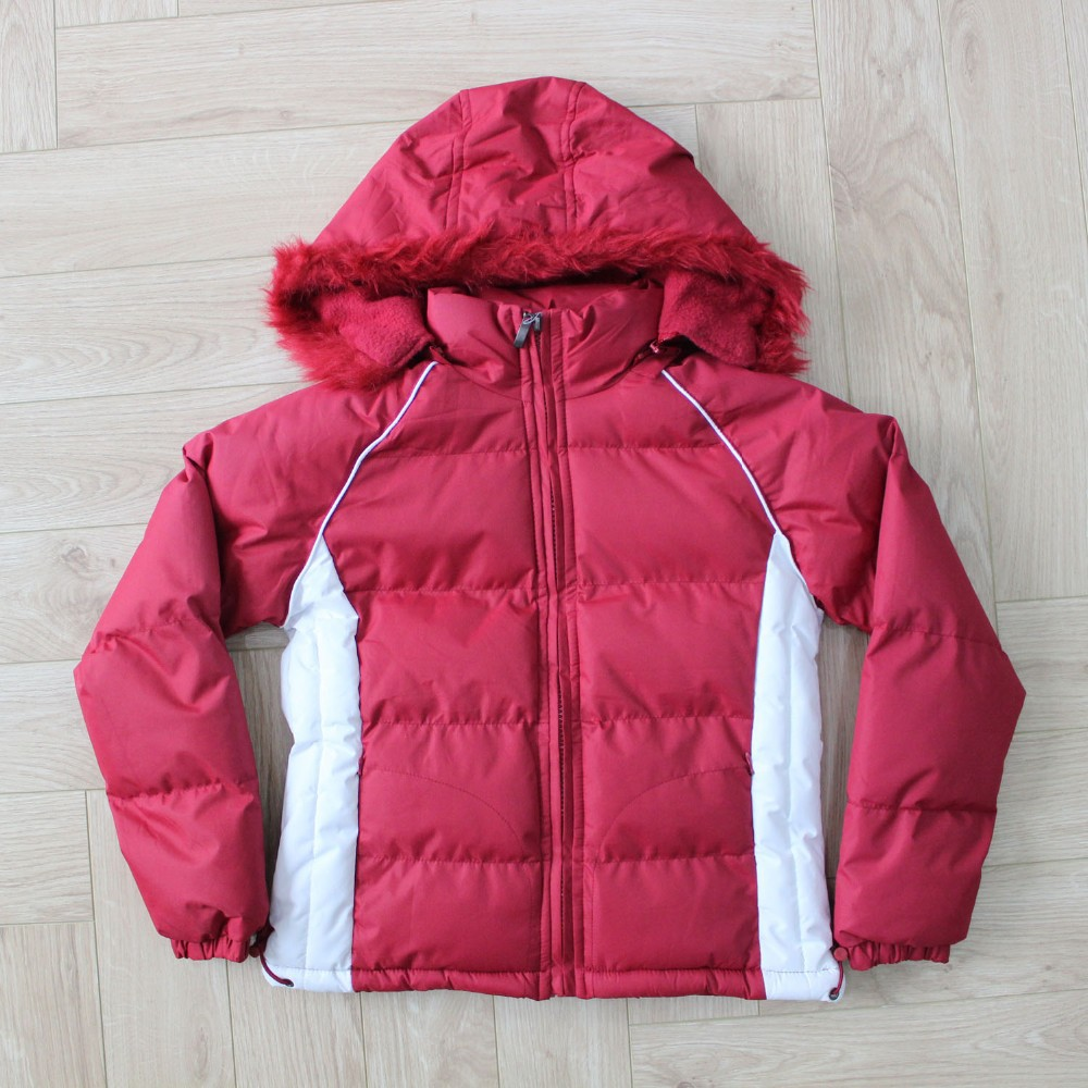 Wholesale Children Clothes Red Outdoor Down Jacket For Cute Girls