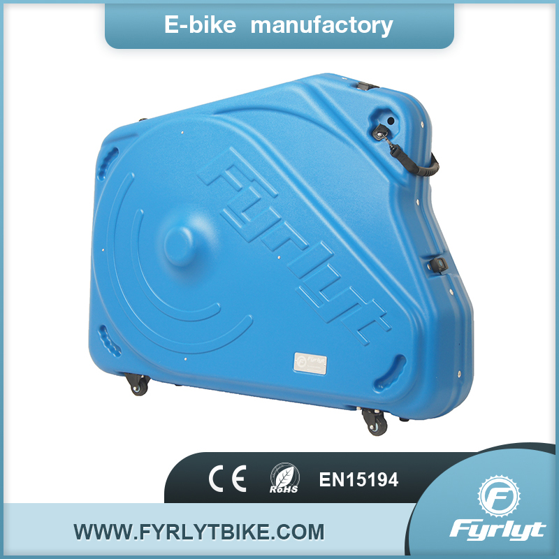 F-700C Blue hard bike travel case for scott road bicycle