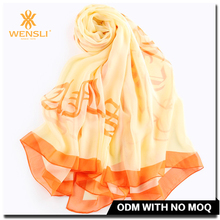 Most Beautiful Ladies Burnt Orange Chiffon Stole Shawl Scarf