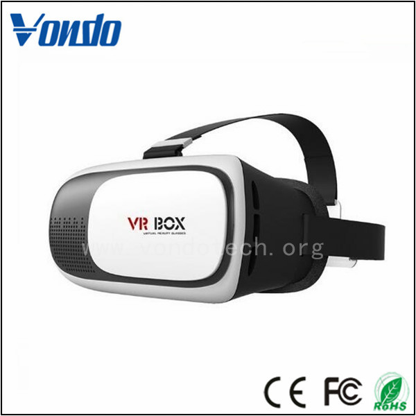 The Hot Selling Second Generation 3D VR BoxVirtual Reality Headset, 3D VR Glasses Adjust Cardboard VR Box For 3.5-6.0""