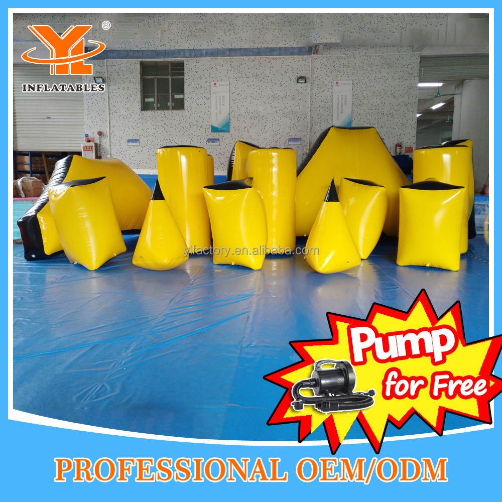 Inflatable Air Bunkers, Paintball Bunkers Inflatable Arena For Obstacle Game