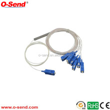 sc SM or MM PLC splitter 1*4/1*6/1*8/1*16 steel tube tybe