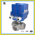 3Way 220V electric Stainless Steel 304 DN40 and DN32 valve with ball water treatment
