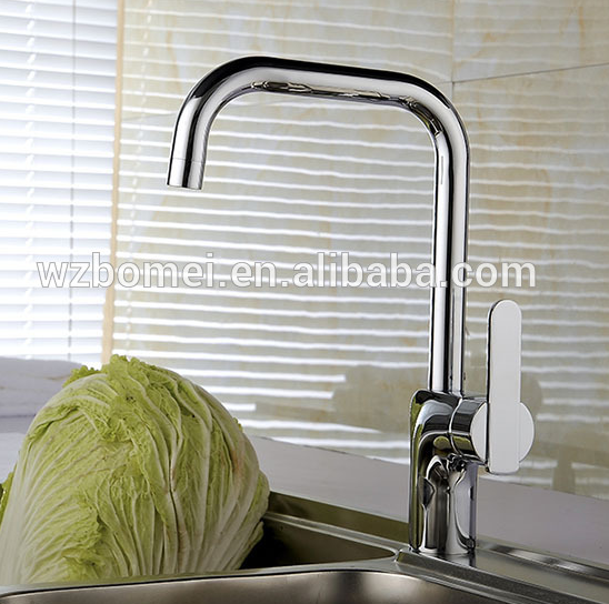 Brass Single Handle Kitchen Centerset Waterfall Sink Water Tap Faucet