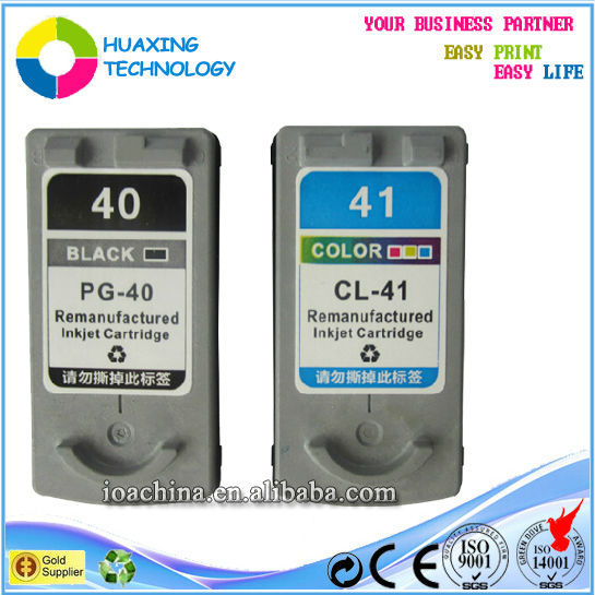 Factory wholesale refillable ink cartridges for canon pg-40 cl-41