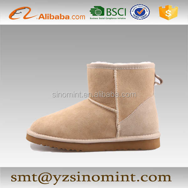 double face sheepskin ankle suza ni snow boots for patrol